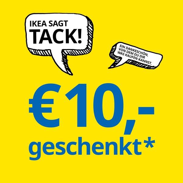 IKEA sagt TACK, was soviel heißt wie Danke