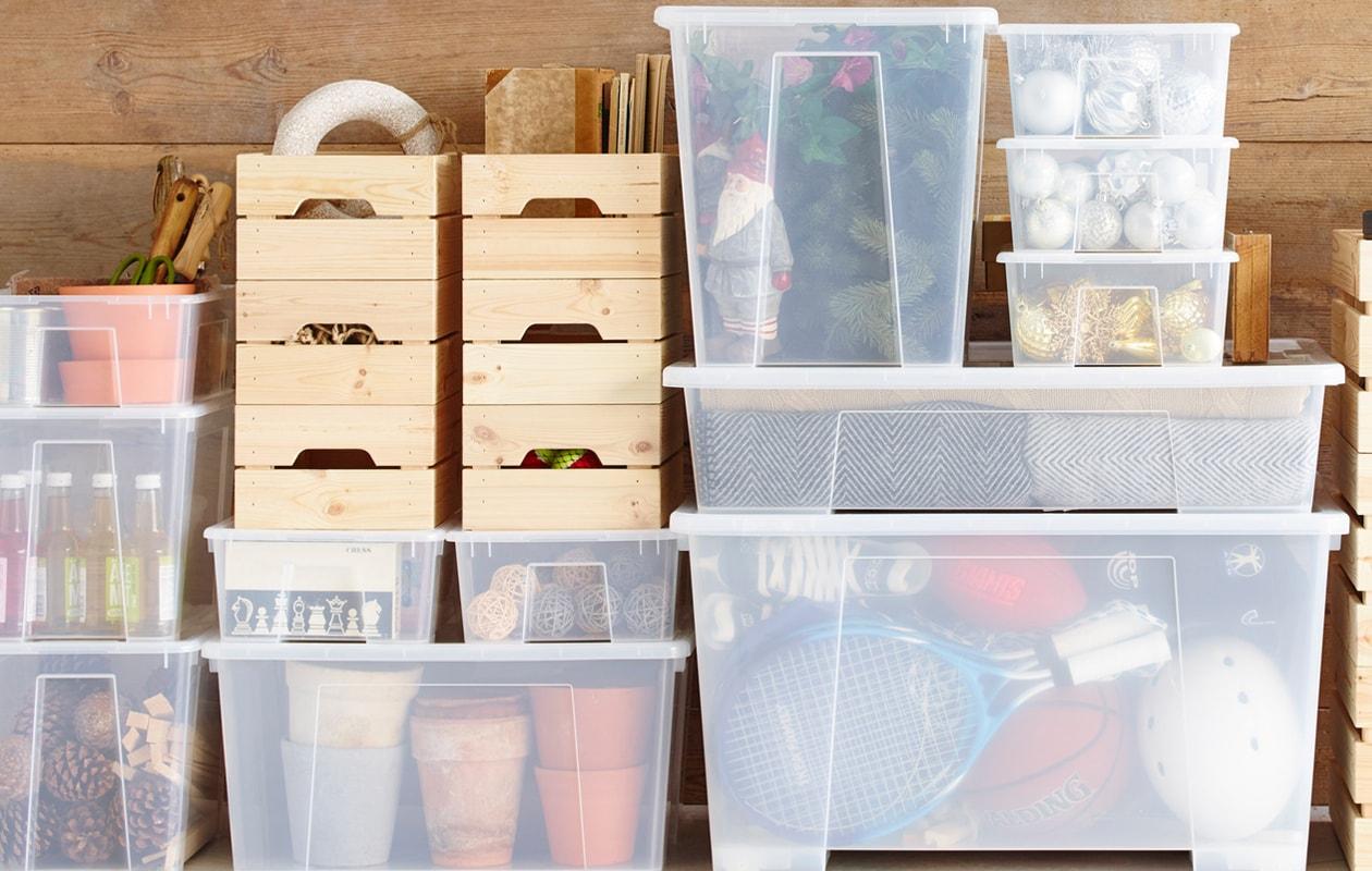 IKEA SAMLA transparante bakken