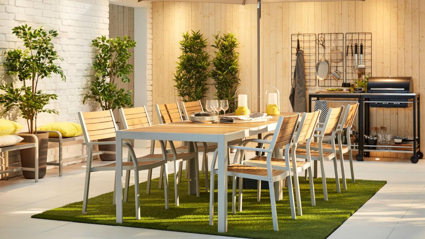 Ikea Själland bord, stolar, dynor Utemöbler Hus & Trädgård