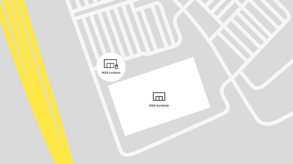 IKEA Soroksár térkép.