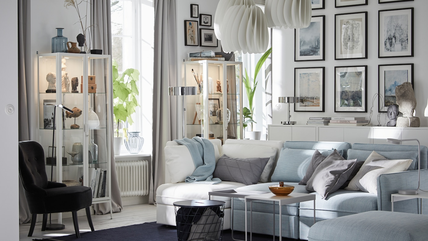 A wall-to-wall gallery in your living room - IKEA