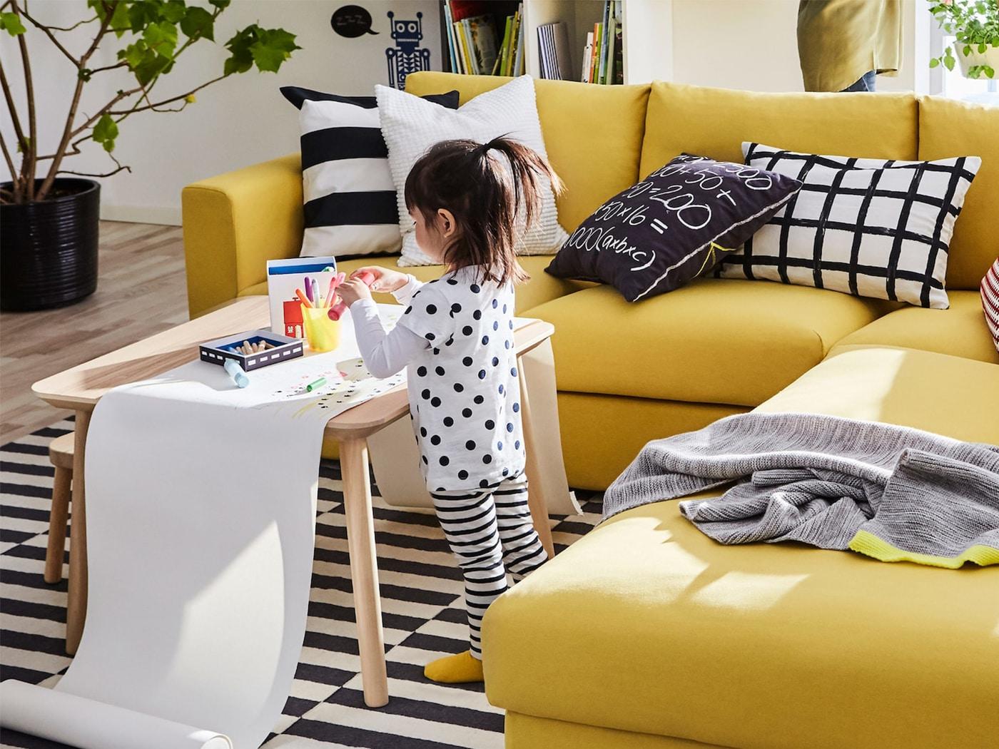 IKEA VIMLE žlutá pohovka