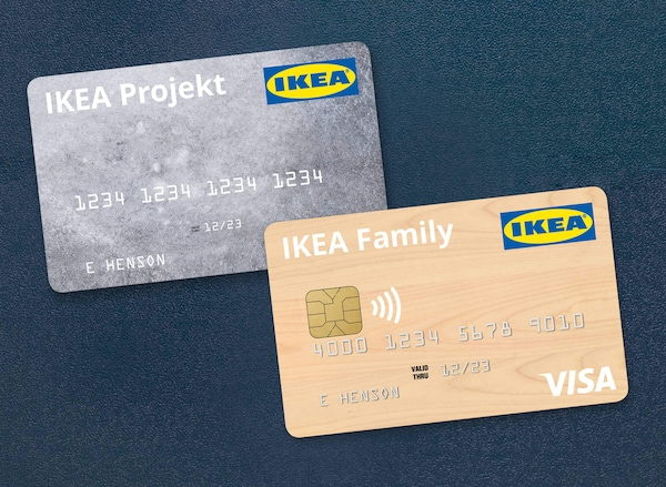 IKEA VISA credit card and IKEA Projekt credit card