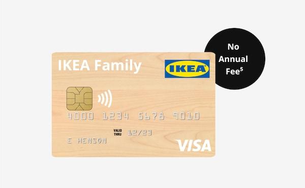 IKEA Visa credit card, no annual fee.