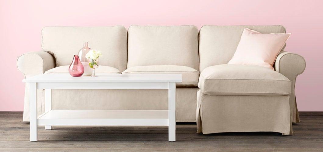 IKEA Wohnzimmer Serie, EKTORP Sofa, Beige