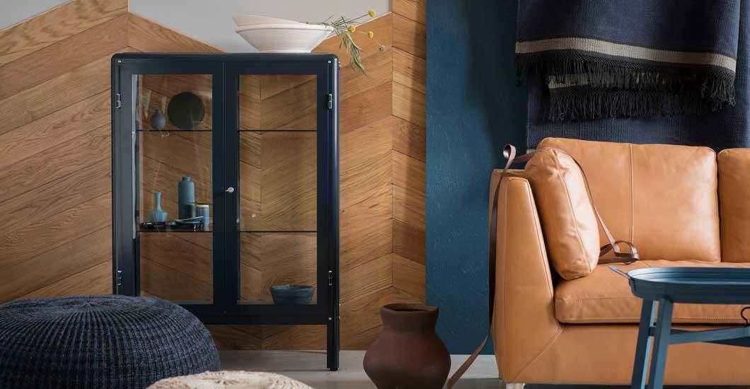 ALLES BLAU. IKEA Wohnzimmer STOCKHOLM 3er Sofa