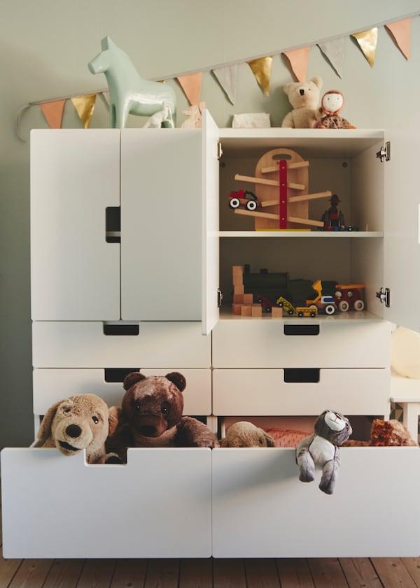 IKEA wooninspiratie - speelgoed opbergen - NORDLI ladekast