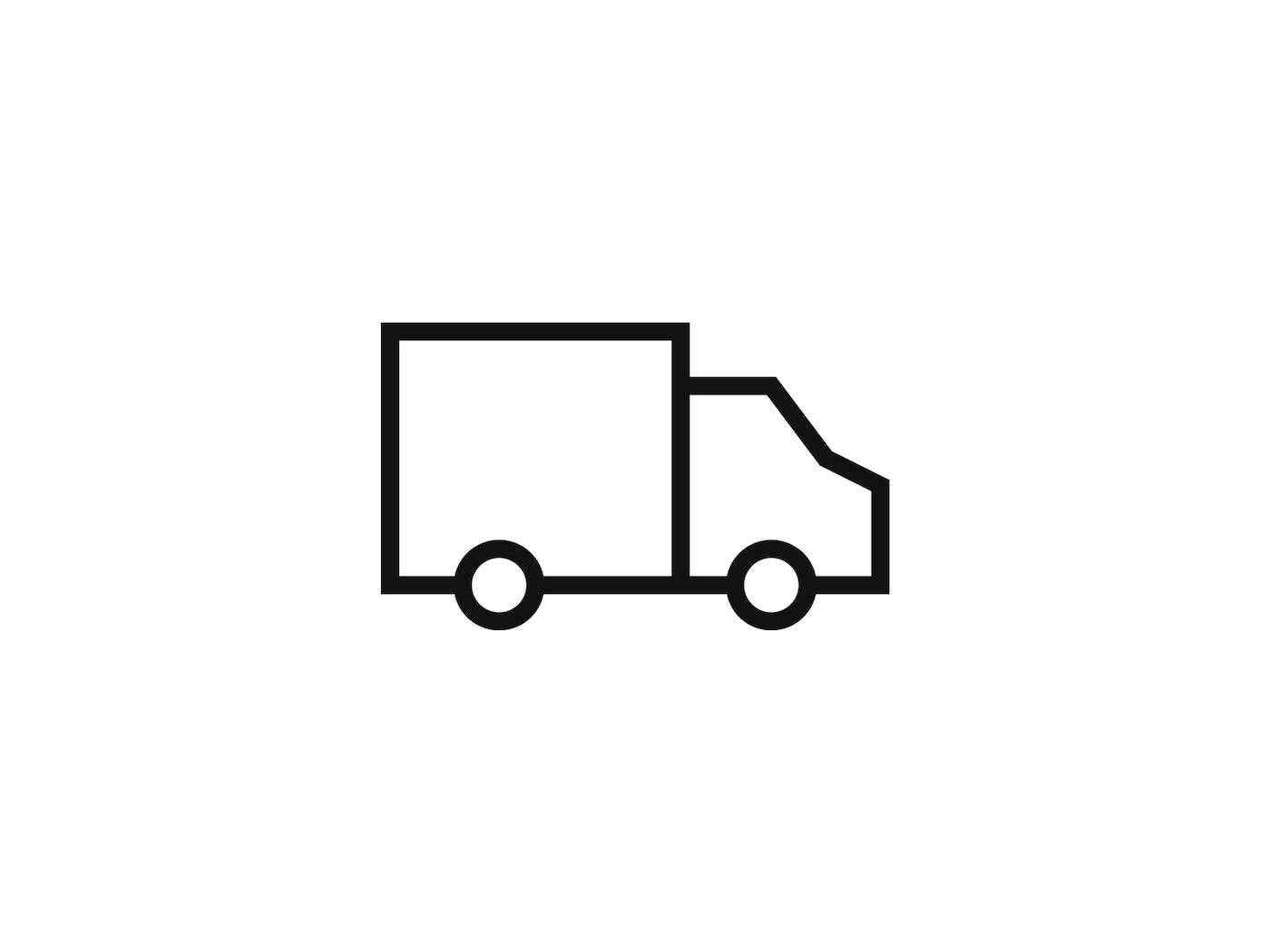 Ikona nákladního vozu symbolizujícího službu IKEA - Doprava zboží zakoupeného on-line