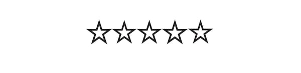 Ikona s pěti hvězdičkami symbolizující hodnocení výrobků