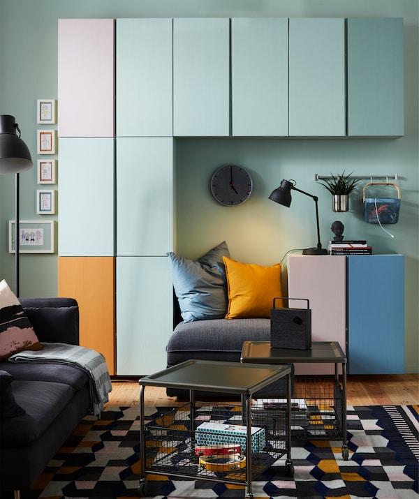 Il mobile IVAR in legno massiccio offre infinite combinazioni da verniciare nei colori che preferisci - IKEA