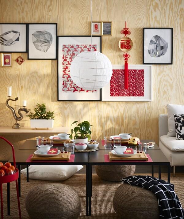 Il paralume rotondo per lampada a sospensione REGOLIT bianco in carta di riso si adatta a qualsiasi stile - IKEA