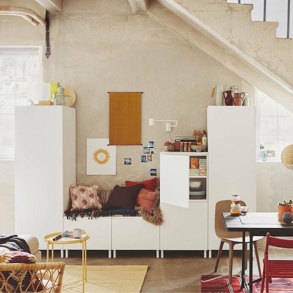 Il sistema componibile PLATSA si adatta alla maggior parte degli spazi e si può riorganizzare facilmente man mano che le esigenze cambiano - IKEA