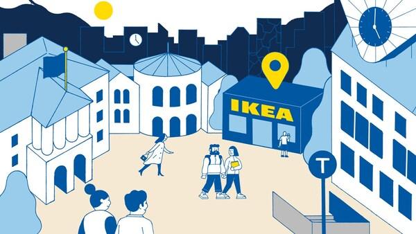 Illustrasjon av IKEA Planning studio i Oslo.