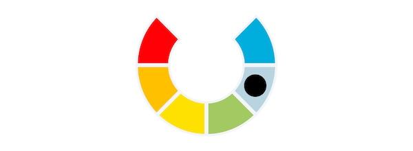 Illustration of a colour spectrum