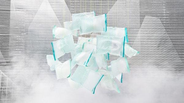 Image du sac plastique refermable  ISTAD, fait à 86% de bioplastique, un matériau renouvelable et recyclable.