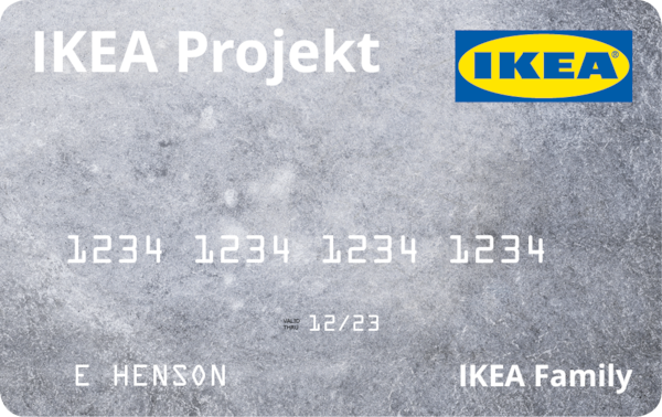 Image of an IKEA Projekt credit card