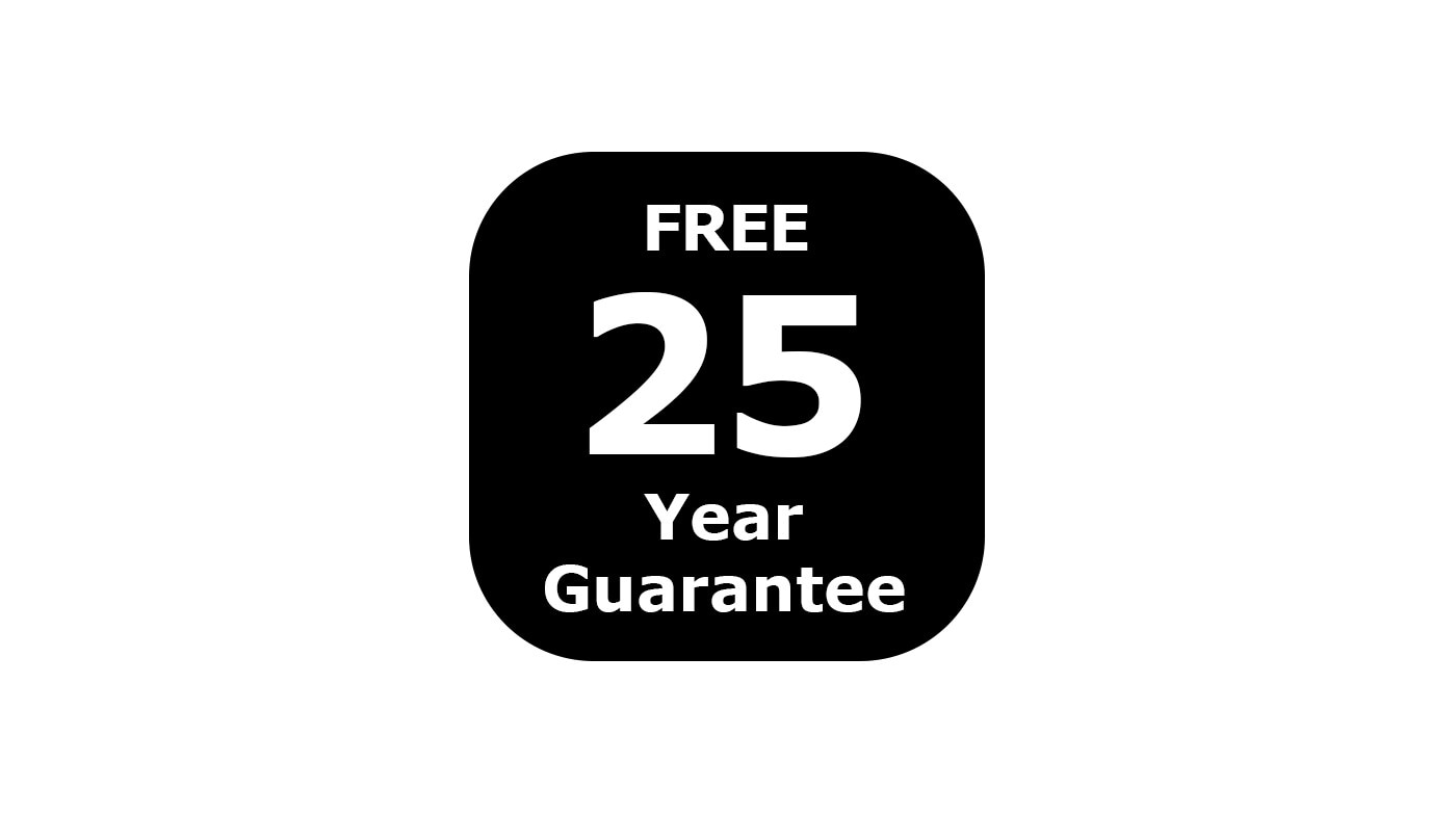 Image with the number 25 written on it showing the 25 year guarantee that a lot of IKEA products have.
