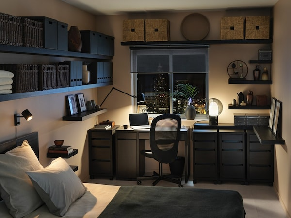 In Ruhe arbeiten und schlafen: Arbeitsbereich mit viel Aufbewahrung