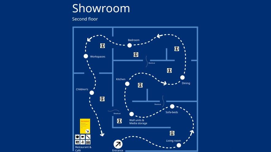 in-store map of IKEA Woodbridge