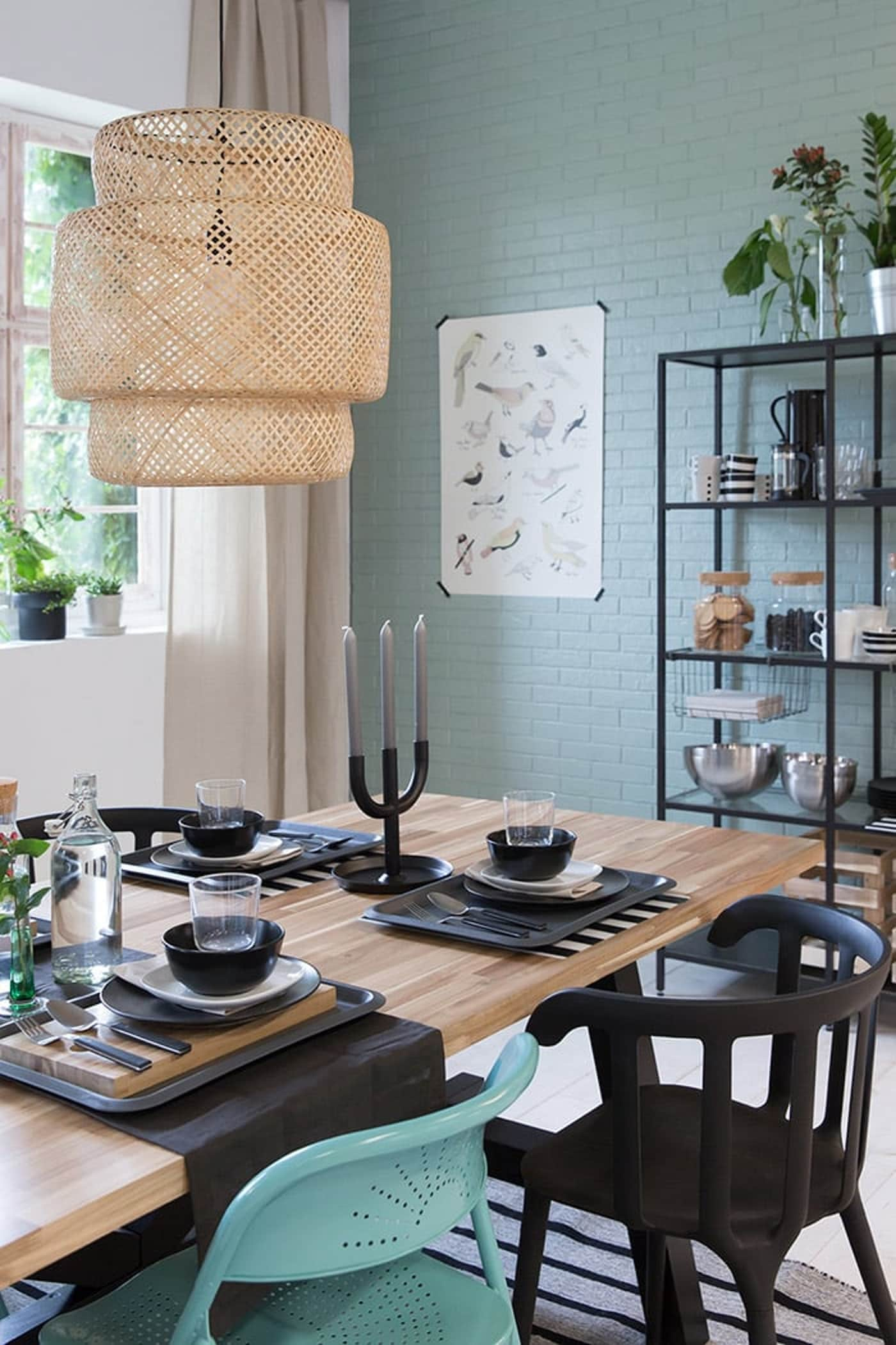 Dining Room Makeover Rustic Industrial Ikea
