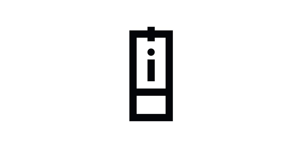 Information tag pictogram.