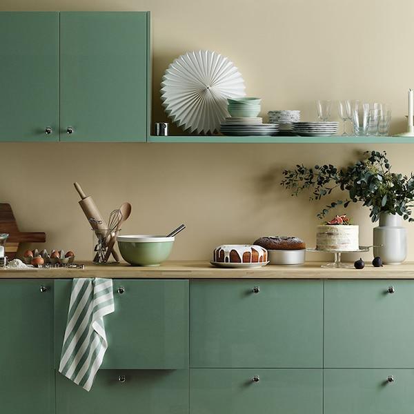 Infos rund um die Küchenmöbel - METOD Küche mit mintgrüner KALLARP Front