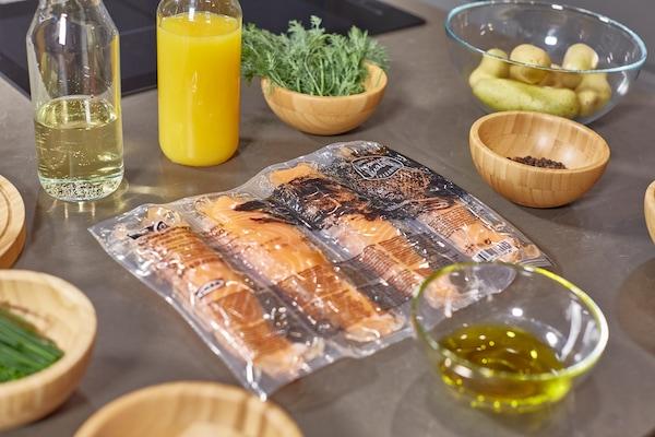 ingredientes para preparar salmón en salsa de naranja