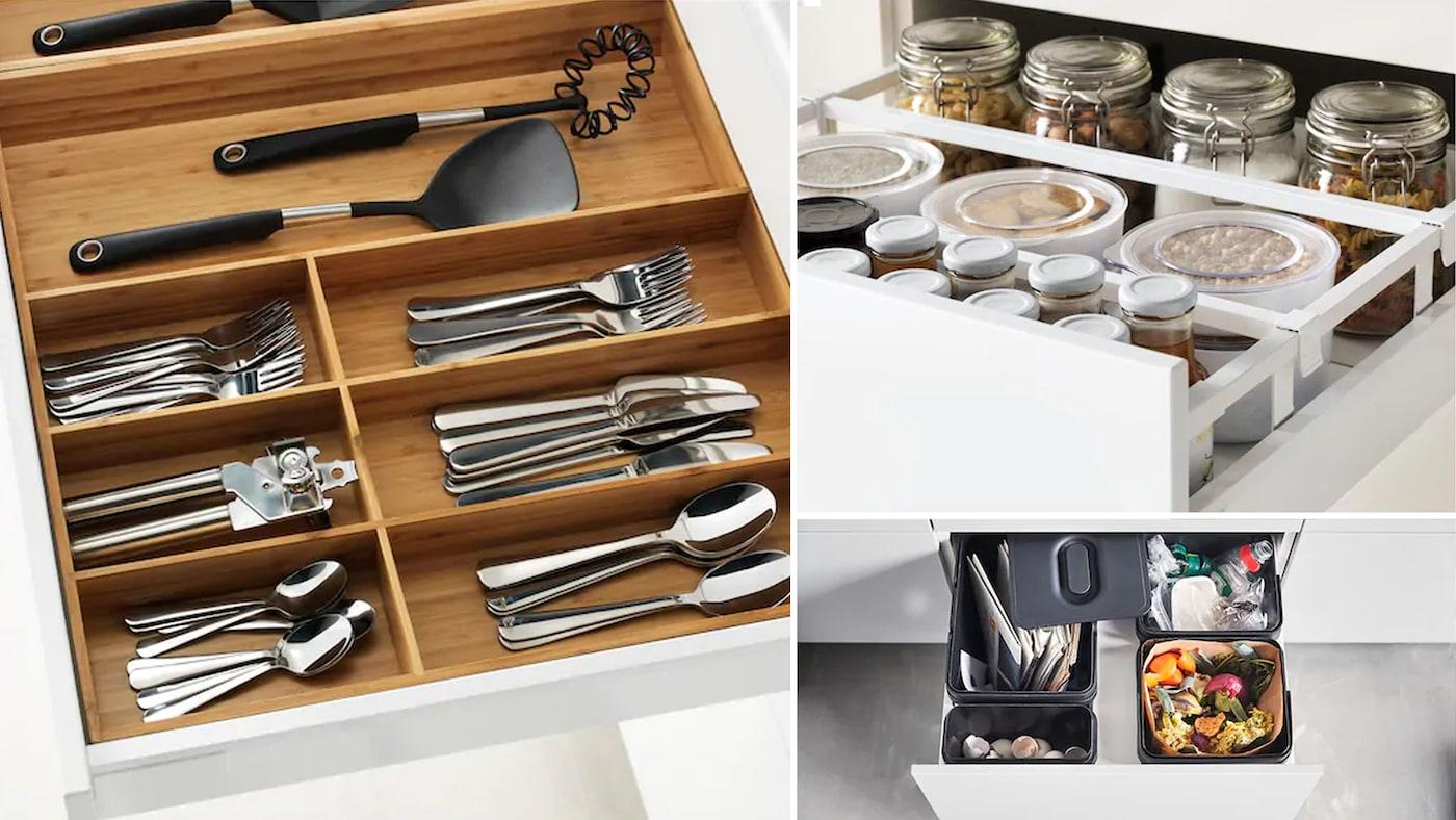 Skapinnredning og skuffeinnredning til ditt kjøkken IKEA
