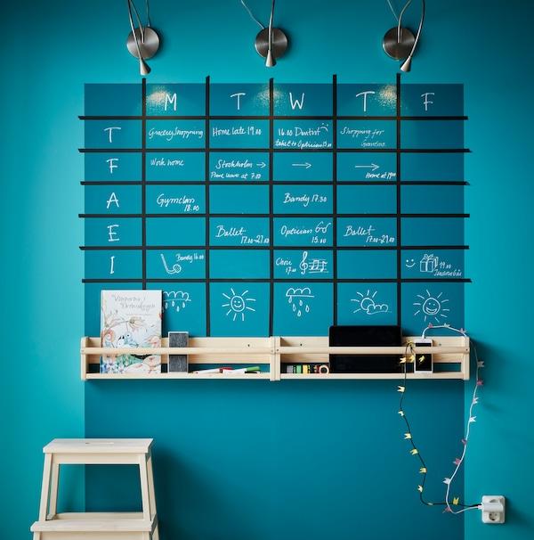 Instaurez un calendrier hebdomadaire familial.