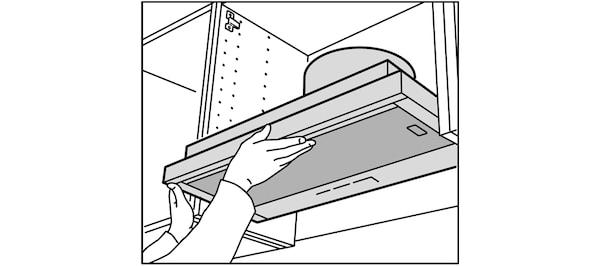 Intallation de hotte IKEA