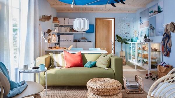 Интерьер гостиной в светлом цвете