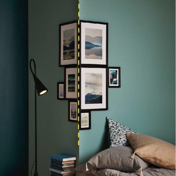 Интерьер с коллажами на стене 4