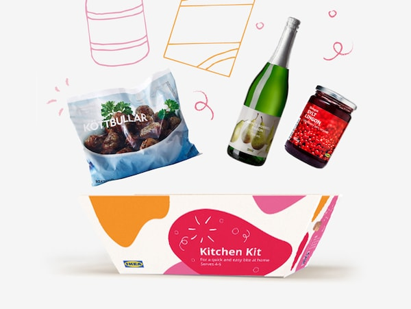 Introducing food kits, with all of your favourite IKEA foods! Button