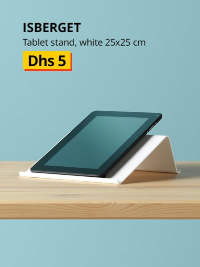 ISBERGET Tablet stand, white25x25 cm