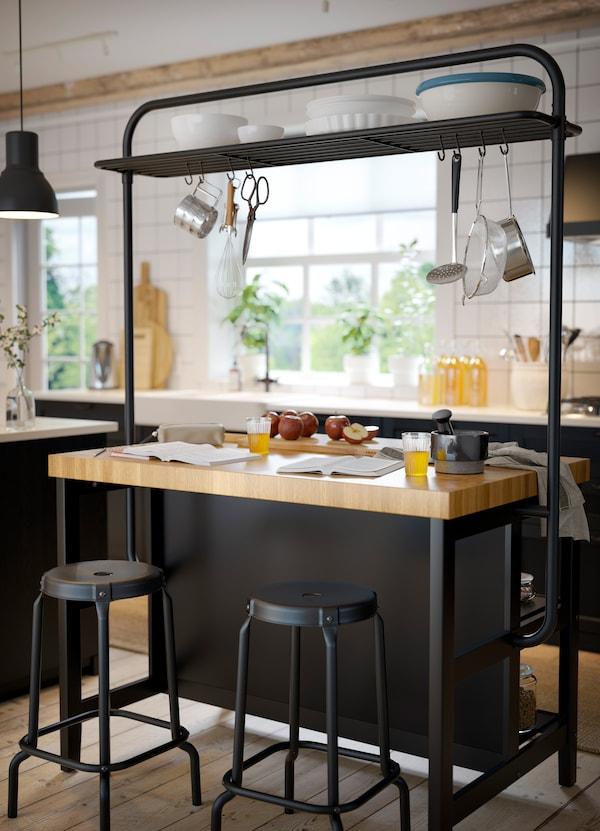 Mas Almacenaje Con La Isla De Cocina Ikea