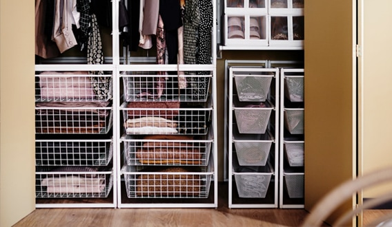 It can be difficult to keep things neat and tidy. JONAXEL storage system lets you utilise the spaces you have in smarter ways. You can build a combination that fits exactly your needs and use it almost anywhere, even in humid bathrooms and laundry rooms.