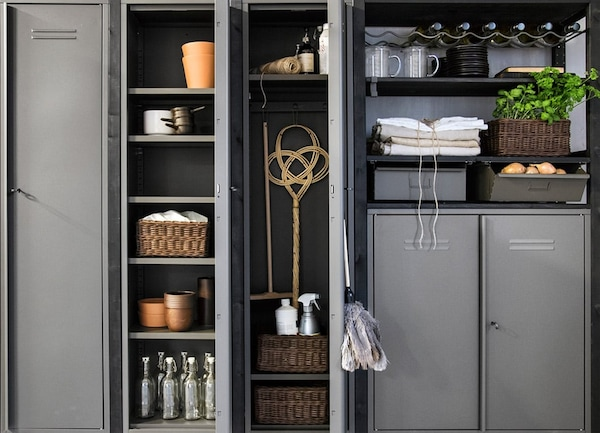 IVAR shelving unit — locker cabinet — tips — layout — IKEA interior inspiration