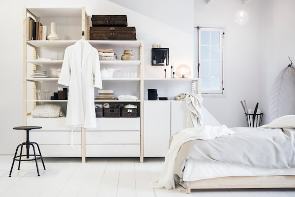 IVAR shelving unit — wardrobe — bedroom — tips — interior — IKEA interior inspiration
