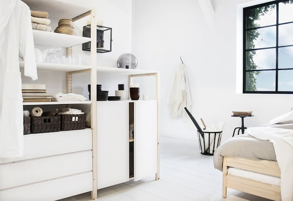 IVAR shelving unit — wardrobe — closet — IKEA interior inspiration