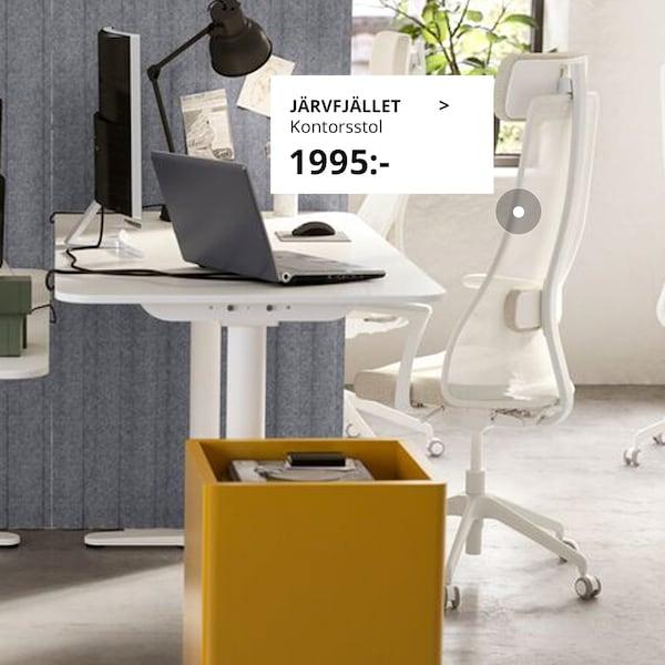 JÄRVFJÄLLET kontorsstol står i en kontorsmiljö.