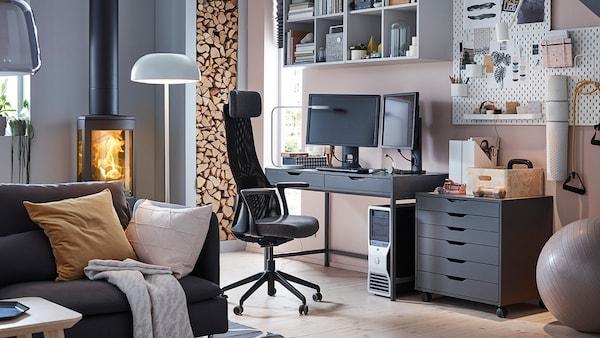 JÄRVFJÄLLET Krzesło biurowe, Glose czarny