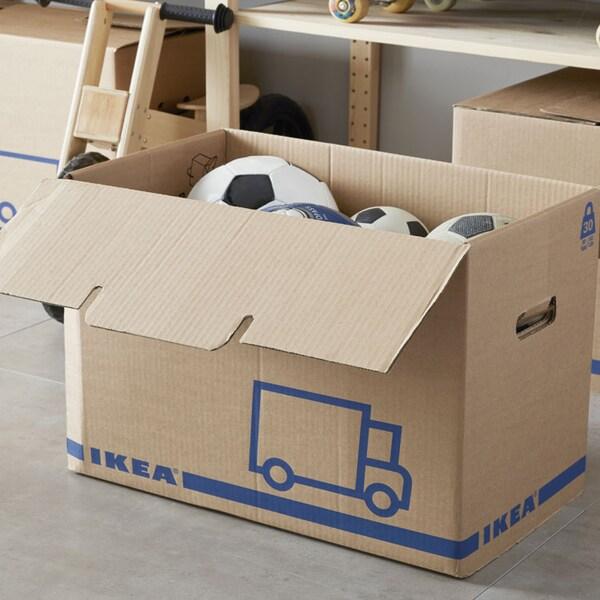 JÄTTENE Boîte déménagement, brun.