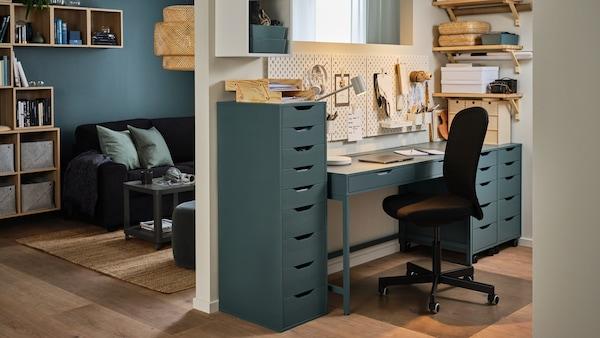 جاليري متكامل لأفكار المكتب المنزلي.