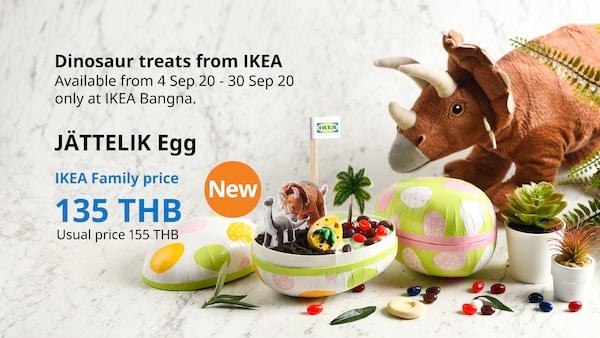 JATTELIK Egg Dinosaur treats from IKEA