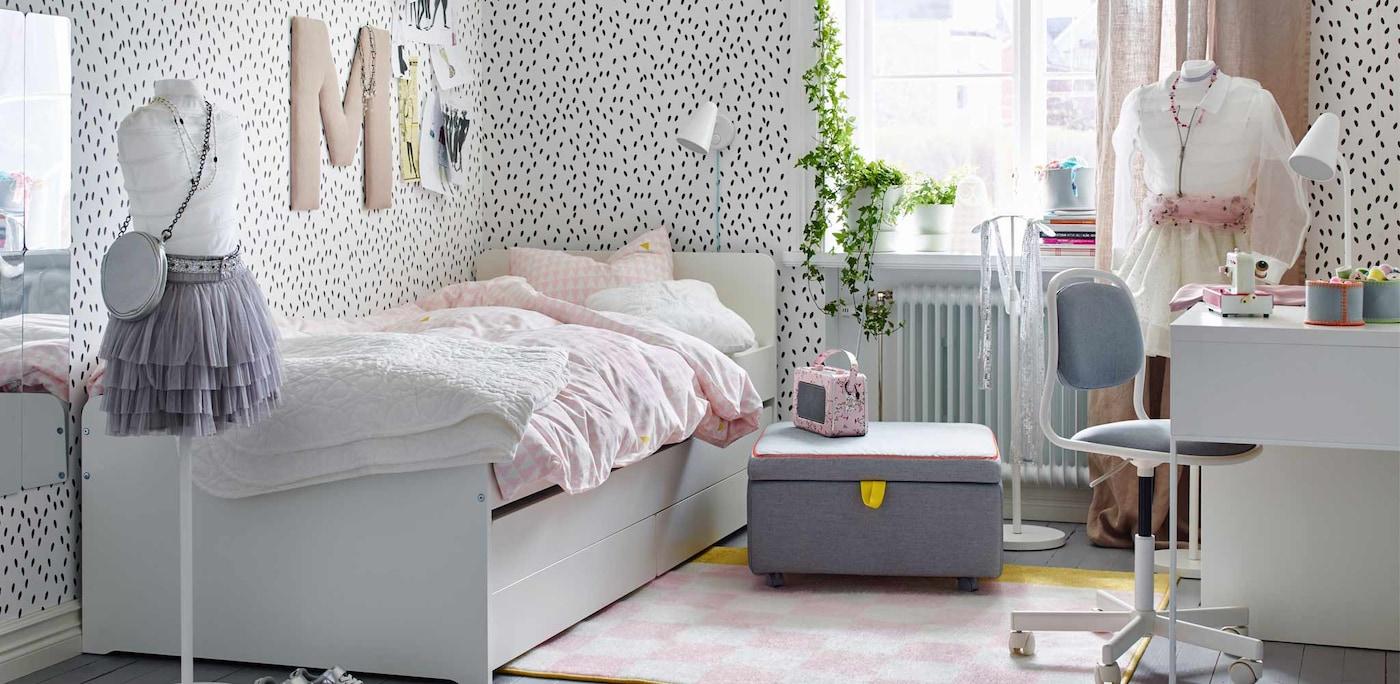Jugendlich ändern gerne häufig ihren Style und damit auch die Einrichtung ihres Teenie-Zimmers.