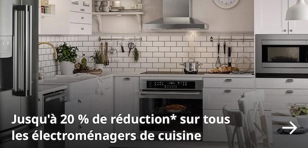 Jusqu'à 20% de réduction* sur tous les électroménagers de cuisine