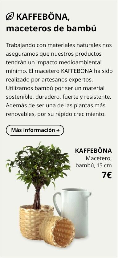 KAFFEBÖNA Macetero, bambú, 15 cm