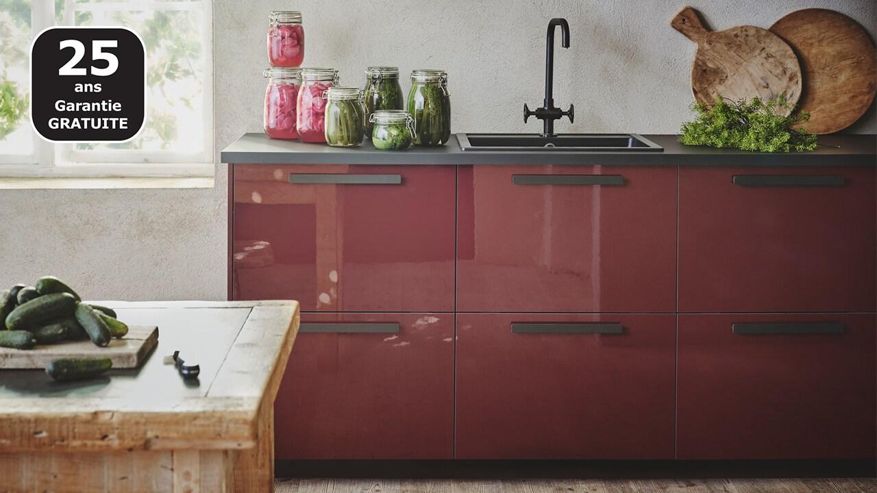 Cuisines METOD finition KALLARP rouge brillant - IKEA - IKEA