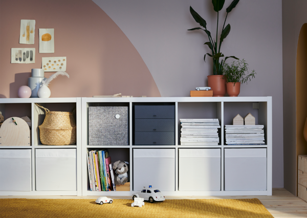 KALLAX solution with some storage solutions