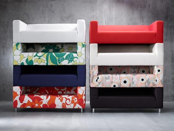 Kao i mnoge naše sofe, IKEA KLIPPAN ima dodatne navlake, pa, kad ti dosadi jedna šara, umesto da kupiš novu sofu - jednostavno promeni navlaku. Na taj način, smanjuješ veličinu otpada i dobijaš nov izgled sofe.